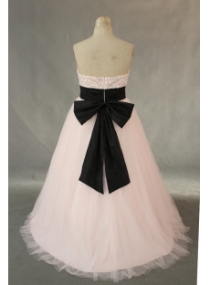 Pink And Black Taffeta Plus Size Quinceanera Dress IMG0372