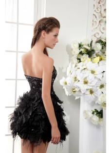 Pretty Black Short Sweet 16 Gown IMG_0091