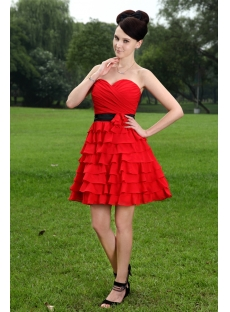 Red and Black Sweet 16 Dresses Short_Black Dresses_dressesss