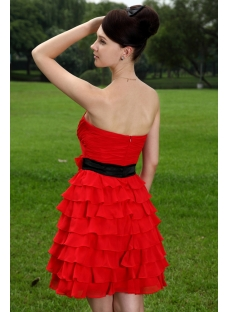 Pretty Short Red and Black Sweet 15 Dresses IMG_1068