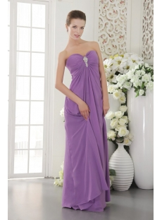 Purple Empire Chiffon Maternity Prom Dress for Plus Size IMG_9563