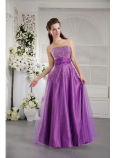 Purple Long Perfect Quinceanera Dress Discount IMG_9812