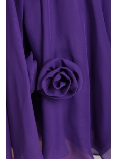Purple Short Homecoming Dresses Cheap 0874