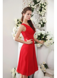 Red Chiffon Beach Bridesmaid Dresses for Small Size Girl IMG_0201