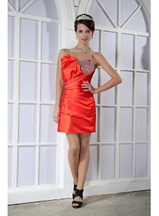 Red MMini Sweetheart Cocktail Gown for Girls GG1071