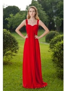 Red Modest Long Straps Maternity Prom Dress with Long Sleeves Jacket IMG_8386