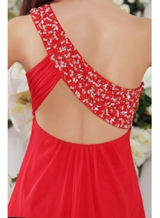 Red One Shoulder Cocktail Dress with Open Back IMG_0215