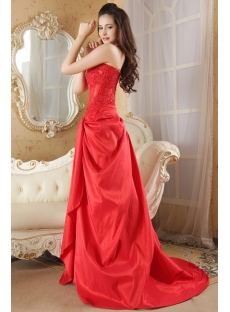 Red Strapless Illusion Sexy Masquerade Prom Gown Dress IMG_5227