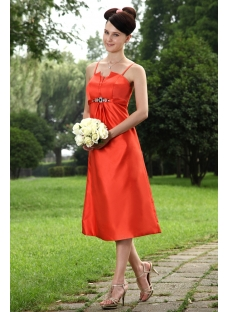 Red Tea Length Formal Mother of Groom Dress IMG_0950