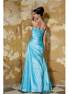 Romantic Turquoise Blue Long A-line Military Prom Dress with Sweetheart GG1044