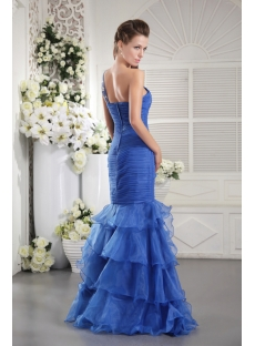 Royal Blue Mermaid Evening Dress 2013 with One Shoulder IMG_9855