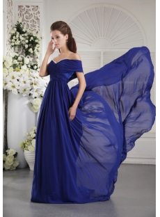 Royal Blue Special 2012 Evening Dress with One Shoulder IMG_9837