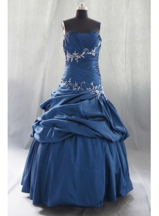 Royalblue Plus Size Princess Strapless Sweetheart Taffeta Quinceanera Dress 07870