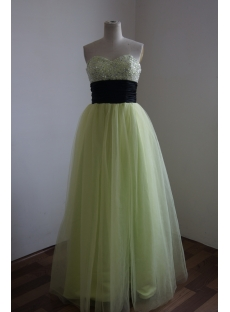 Sage Sweetheart Satin Prom Dress 3141
