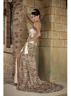 Sexy Sweetheart Leopard Evening Dress with Train GG1011