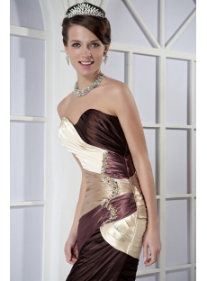 Short Colorful Homecoming Dress with Shawl GG1066