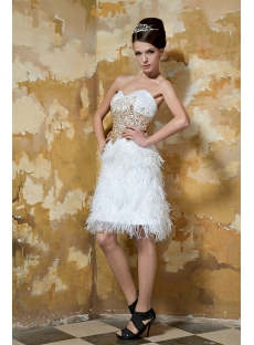 Short Ostrich Feather Cocktail Prom Dresses GG1036