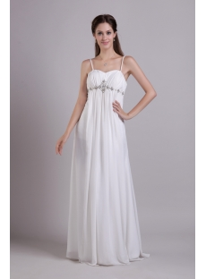 Spaghetti Straps Maternity Wedding Dress for Plus Size 0778
