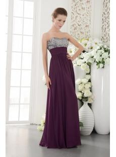 Spark Purple Formal Long Evening Dresses IMG_9580