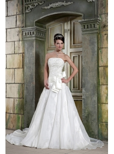Strapless Cheap Bridal Gown Dress with Drop Waist GG1078