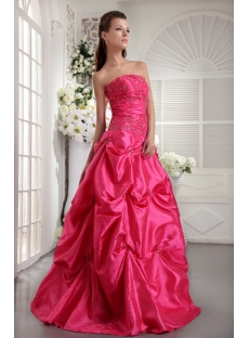 Strapless Fuchsia Clearance Quinceanera Dress IMG_9947