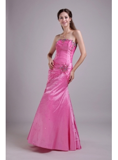 Strapless Hot Pink Mermaid 2012 Evening Dress IMG_0707