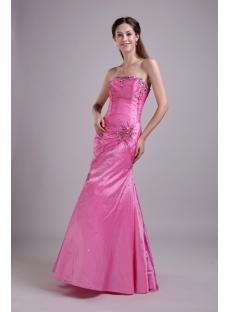 Strapless Hot Pink Mermaid 2012 Evening Dress IMG_0707