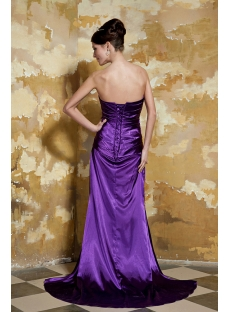 Strapless Stylish Long Grape Evening Dress 2012 with Slit Front GG1060