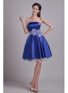 Sweet Royal Blue Short Homecoming Dress 0930