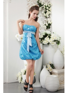 Sweet Teal Blue Spot Short Homecoming Dress IMG_0138