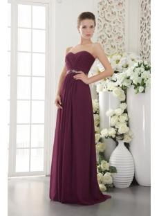 Sweetheart Grape Plus Size Evening Dress with Chiffon IMG_9573