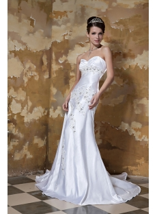 Sweetheart Long Beach Wedding Dresses Tumblr GG1095