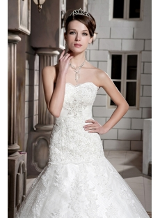 Sweetheart Mature Lace Mermaid Bridal Gowns with Corset Back GG1087