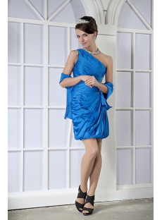 Sweetheart Turquoise Short Graduation Dress with Shawl GG1067