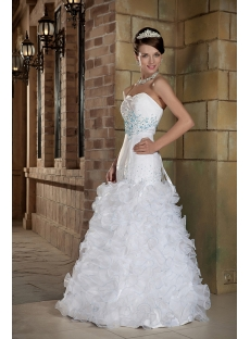 Sweetheart Wedding Dresses 2012 Spring with Blue GG1006