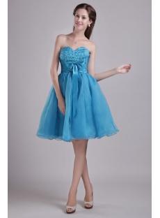 Teal Blue Sweetheart Cocktail Dress Short 0923