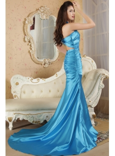 Turquoise Sheath Sexy 2012 Prom Dresses under 200 IMG_5255