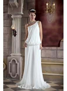 Unique One Shoulder Casual Bridal Gown GG1030