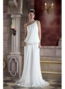 Unique One Shoulder Casual Bridal Gown GG1030