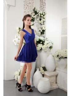 Unique Short Royal Blue Graduation Dress IMG_0174