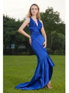 V-neckline High-low Hem with Keyhole Sexy Prom Dress IMG_8490