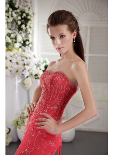 Water Lemon Long Luxurious Embroidery Prom Dress 2012 with Train IMG_9938