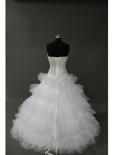 White Floor-Length Satin Organza Quinceanera Dress IMG_0201