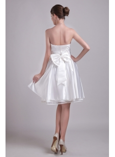 White Inexpensive Homecoming Dresses Short 0968