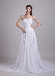 White Wedding Dresses for Pregnant Brides 0848
