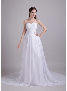 White Wedding Dresses for Pregnant Brides 0848:1st-dress.com