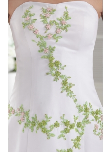 White with Green Embroidery 2011 Ruffled Quinceanera Dress IMG_0004