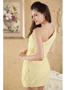 Yellow Short One Shoulder Homecoming Dress under 100 IMG_5293
