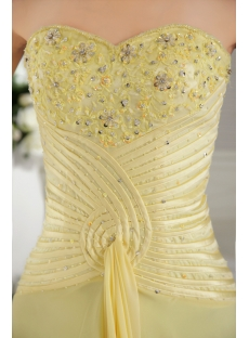 Yellow Sweet Prom Dress 2012 with Corset IMG_9721