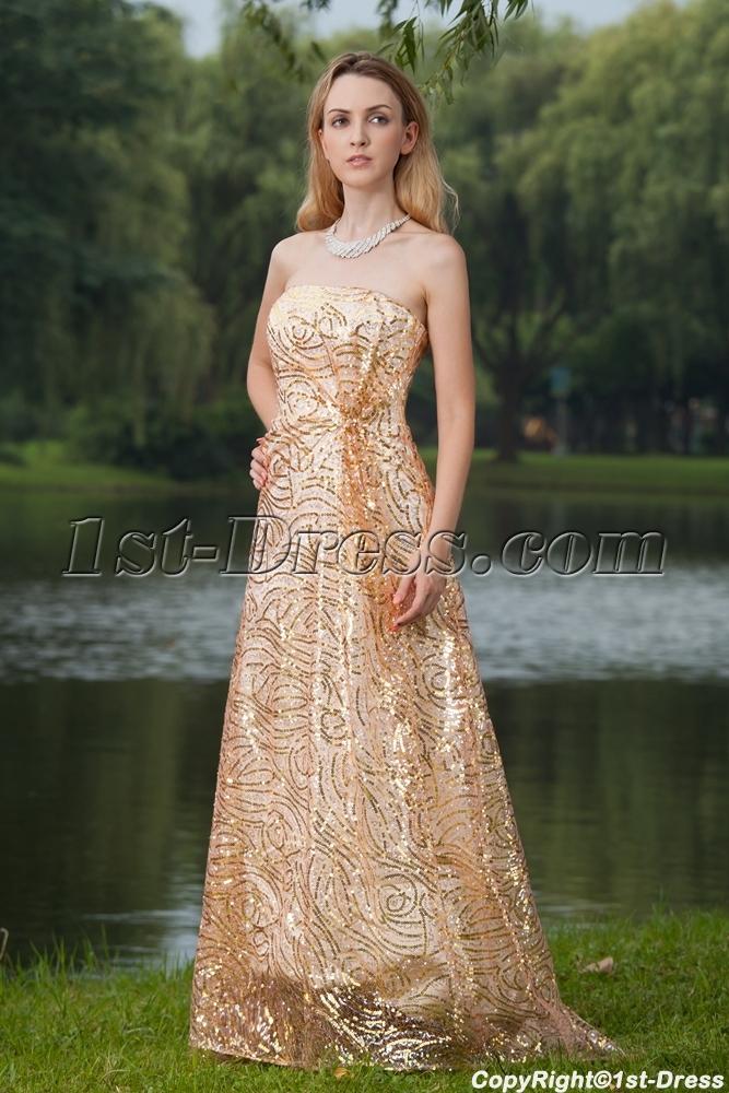 ... Dresses > Prom Dresses > 2013 Prom Dresses >2013 Gold Sequins Prom